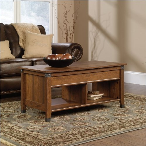 Sauder Carson Forge Lift-Top Coffee Table, Washington Cherry Finish back-781969