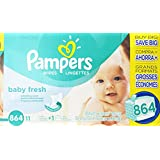Pampers Baby Fresh wipes have a refreshing scent and are hypoallergenic. They're 2X stronger than the leading competitor and are made with a touch of Vitamin E to help leave your baby feeling refreshingly clean.