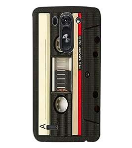 ColourCraft Retro Audio Cassette Design Back Case Cover for LG G3 S