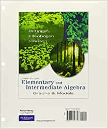Intermediate algebra graphs and functions third edition