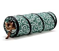 猫壱 キャット トンネル カラクサ 緑