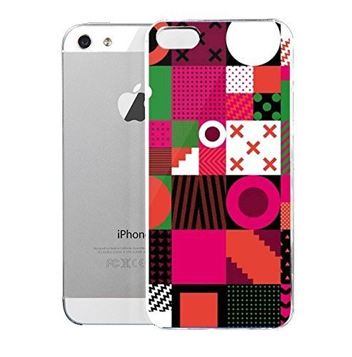 light-weight-with-strong-pc-plastic-case-for-iphone-5-5s-patterns-geometric-graffik-blocks-watermelo