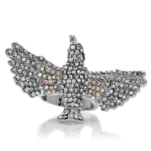 Hunger Games Jewelry: Tiki the Mocking Jay Bird Ring - Silver