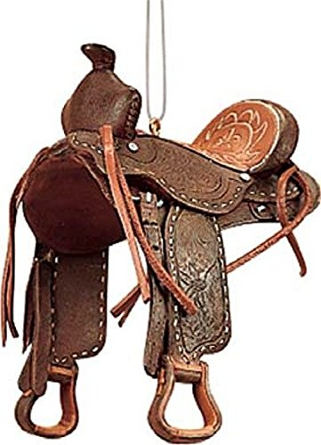 Western Saddle Ornament