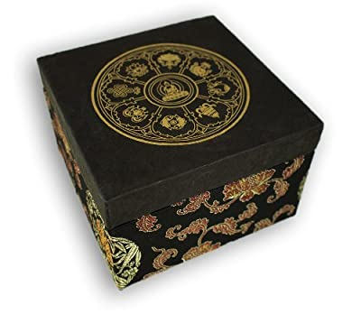 Geschenk Set Box mit Klangschale antik -5033-L-