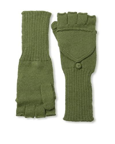 Alicia Adams Alpaca Women's Fingerless Gloves, Olive