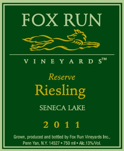 2011 Fox Run Vineyards Riesling Reserve 750 Ml