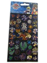 Bakugan Battle Brawlers Stickers - Bakugan Sticker Sheet (1 Pack / 2 Sheets)
