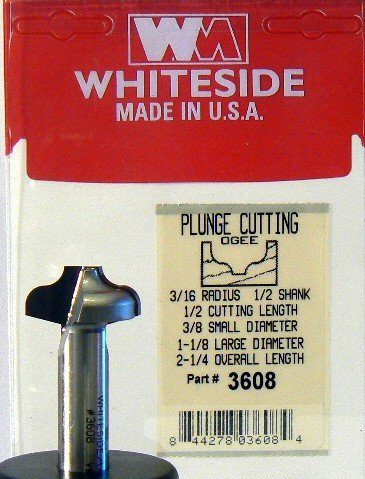 Whiteside Router Bits SC21 Standard Straight Bit with Solid Carbide 1//4-Inch Cutting Diameter and 1-Inch Cutting Length
