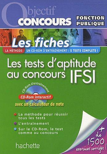 Les tests d'aptitude au concours IFSI : Catégorie B (1Cédérom)