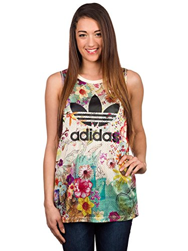 Adidas Confete Loose Trefoil W Canotta 38 multicolor