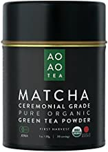 AO AO TEA - Matcha Green Tea Powder - Ceremonial Grade 1oz  30g - Healthy and Delicious - All Natura