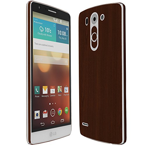 Skinomi® Techskin - Lg G3 Vigor Screen Protector + Dark Wood Full Body Skin Protector With Free Lifetime Replacement Warranty / Front & Back Wrap / Premium Hd Clear Film / Ultra High Definition Invisible And Anti-Bubble Crystal Shield - Retail Packaging