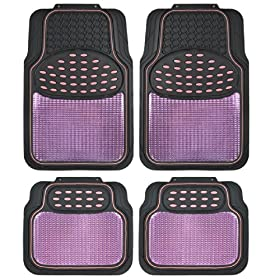 BDK USA Real Heavy Duty Metallic Rubber Mats (Pink Black)