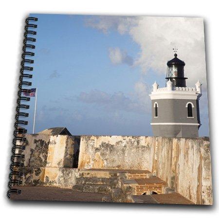 3Drose Db_72951_2 Puerto Rico, Old San Juan, El Morro Lighthouse-Ca27Wbi0015-Walter Bibikow-Memory Book, 12 By 12-Inch
