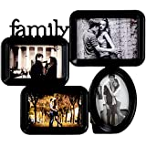 Priya Collections Glass 4-in-1 Collage Photo Frame With Frame (39 Cm X 33 Cm X 3 Cm, Black)