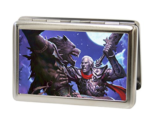 Dungeons & Dragons - Werewolf Pose - Metal Multi-Use Wallet Business Card Holder