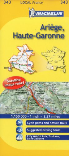 Michelin Map France: Arige, Haute-Garonne 343 (Maps/Local (Michelin)) (English and French Edition)