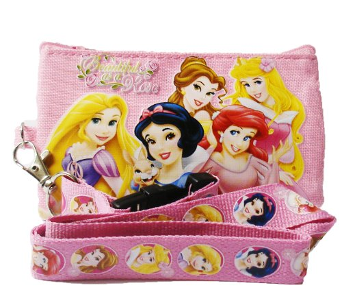 Disney Princess and Tangle Lanyard with Coin Purse 'Beautiful as a Rose""
