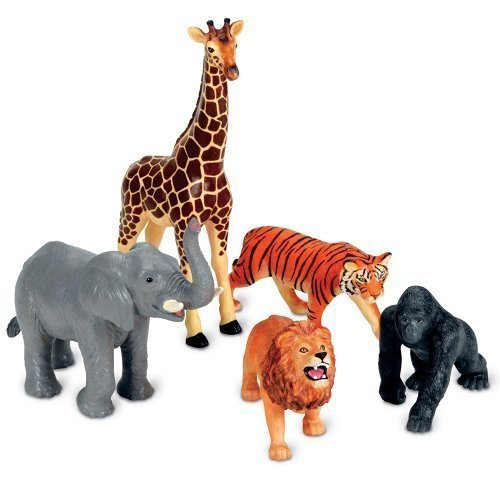 Learning Resources Jumbo Jungle Animals CustomerPackageType: Standard Packaging, Model: LER0693, Toys & Play