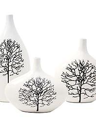 YZL/ Modern Ceramic Craft Ornaments for Home Decoration 3pcs/set , black