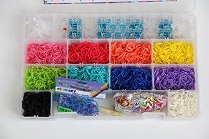 Amazon.com: Rainbow Loom Deluxe Kit - Includes 3600 Bands ... Rainbow Loom Kit Amazon
