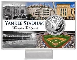 "MLB New York Yankees Yankee Stadium ""Through the Years"" Silver Coin Card"