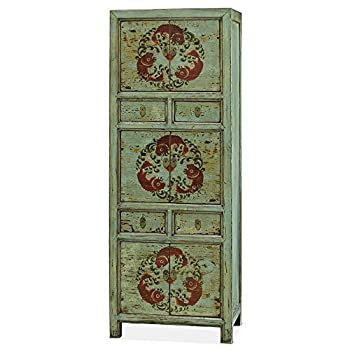 China Furniture Online Armoire, Tibetan Style Tall Cabinet with Koi Fish Motif