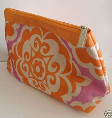 Clinique Cosmetic Makeup Bag-orange and Purple