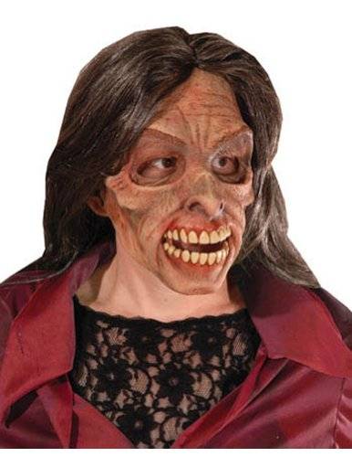 Mrs Living Dead Latex Mask Halloween Costume - Most Adults