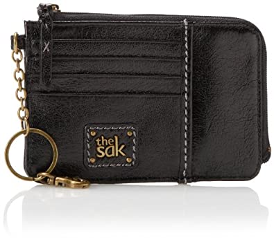 The SAK Iris Card Wallet Card Case, Black Onyx, One Size