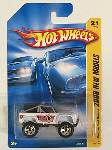Hot Wheels 2008 021 New Models # 21 Custom Ford Bronco White - 1