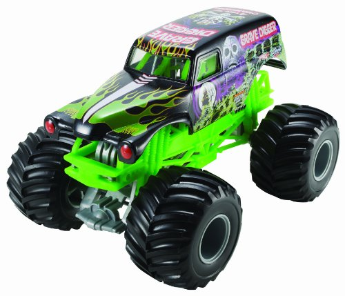 Hot Wheels Monster Jam Grave Digger Die-Cast Vehicle, 1:24 Scale (Die Cast 1 24 Truck compare prices)