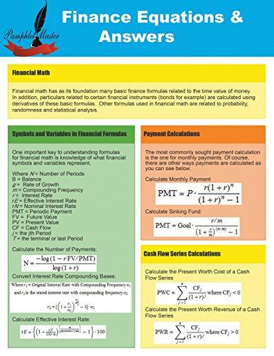 Finance Equations & Answers