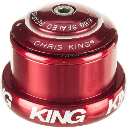 Chris King Inset Mixed Tapered Headset With Griplock Red, One Size