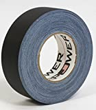 Professional Premium Grade Gaffer Tape - Black 2 Inch - 60 Yards - Heavy Duty Pro Gaff Tape - Strong, Tough and Powerful, Secures Cables, Holds Down Wires Leaving No Sticky Residue - Very Easy to Tear - Non- Reflective - Water Proof - Multipurpose fo