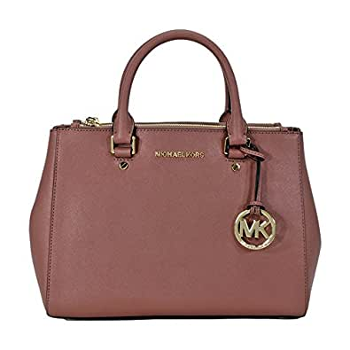 michael kors sutton leather medium satchel handbag dusty. Black Bedroom Furniture Sets. Home Design Ideas