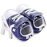 waylongplus Prewalker infantil suave antideslizante Zapatos de bebé de bebé Zapatillas Bule Talla:11 (3-6 Months)