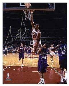 Scottie Pippen Chicago Bulls Autographed 8 x 10 Photo vs. Toronto Raptors - Memories... by Sports Memorabilia