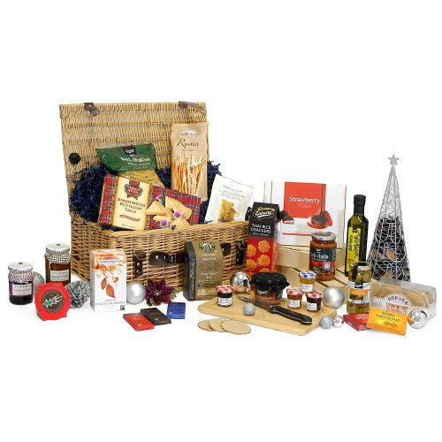 Emmanuelle Luxury Traditional Wicker Christmas Hamper With 25 Gourmet Festive Food Items Gifts Xmas Corporate Hampers 18th 21st 30th 40th