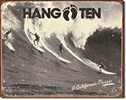 Hang Ten - California Classic Metal Tin Sign 16&quot;W x 12.5&quot;H