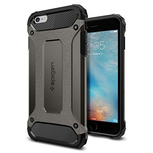 Spigen iPhone6s Plus ケース / iPhone6 Plus ケース, タフ・アーマー テック [ エアクッションテクノロジー ] アイフォン6s プラス / 6 プラス 用 米軍MIL規格取得 耐衝撃カバー (ガンメタル SGP11746)