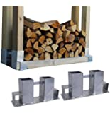 2x Holzstapelhilfe verzinkt Stapelhilfe Holzstapelhalter Brennholz Kaminholz Gestell Holz
