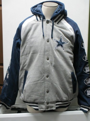 Dallas Cowboy 2013 Commemorative Fleece Varsity Hoody (grey/blue, M) at Amazon.com