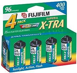 Fujifilm 1014258 Superia X-TRA 400 35mm Film - 4 Pack