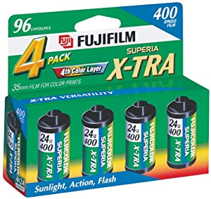 Fujifilm 1014258 Superia X-TRA 400 35mm Film - 4 Pack