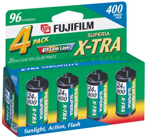 Fujifilm 1014258 Superia X-TRA 400 35mm Film – 4×24 exp, (Discontinued by Manufacturer)