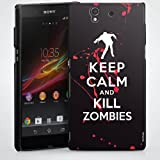 Mobile Design Case Cover Shell for Keep calm and kill Zombies Xperia Z (L36H) - HardCase black - Sony