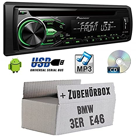 BMW 3E46-Pioneer deh1800ubg-Kit de montage autoradio CD/MP3/USB -