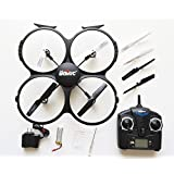 Jurassic UFO 2.4ghz 4 CH 6 Axis Gyro RC Quadcopter Toy Drone with Camera, Extra Propellers, Warranty, & 2 Batteries *Exclusive to Jurassic*